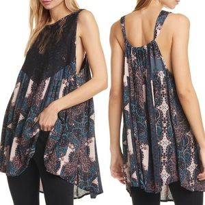 Free People Count Me In Trapeze Lace Mini Dress